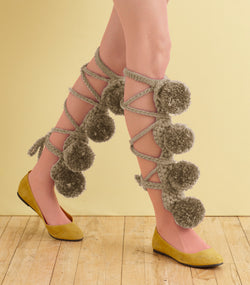 Porridge Pompom Leg Fancies (Crochet)