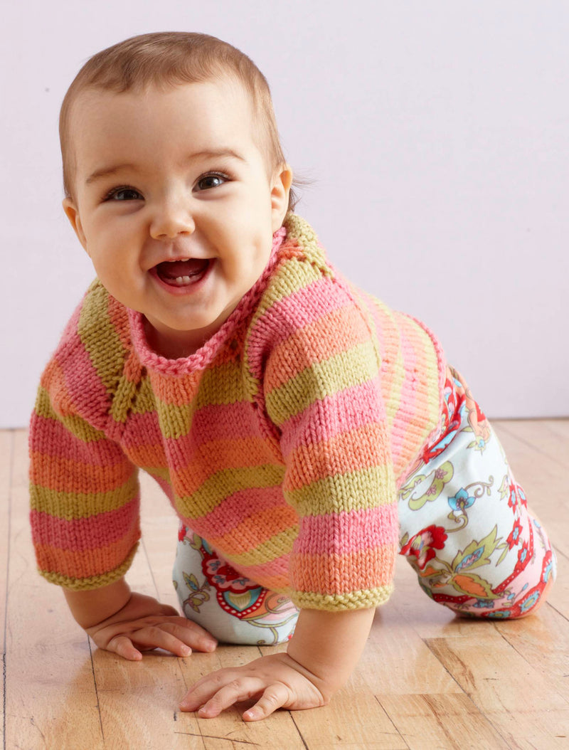 Sunrise Stripes Pullover Pattern (Knit)