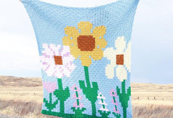 Crochet Kit - C2C Flower Fields Blanket