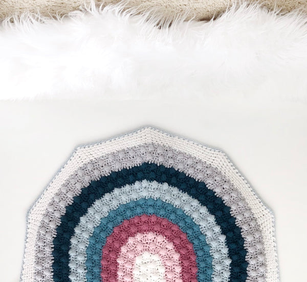Crochet Kit - Rainbow Bobble Blanket