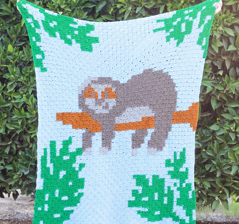 Crochet Kit -  C2C Sloth Blanket