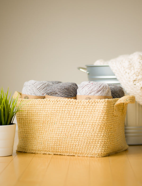Crochet Kit - Rustic Tweed Basket
