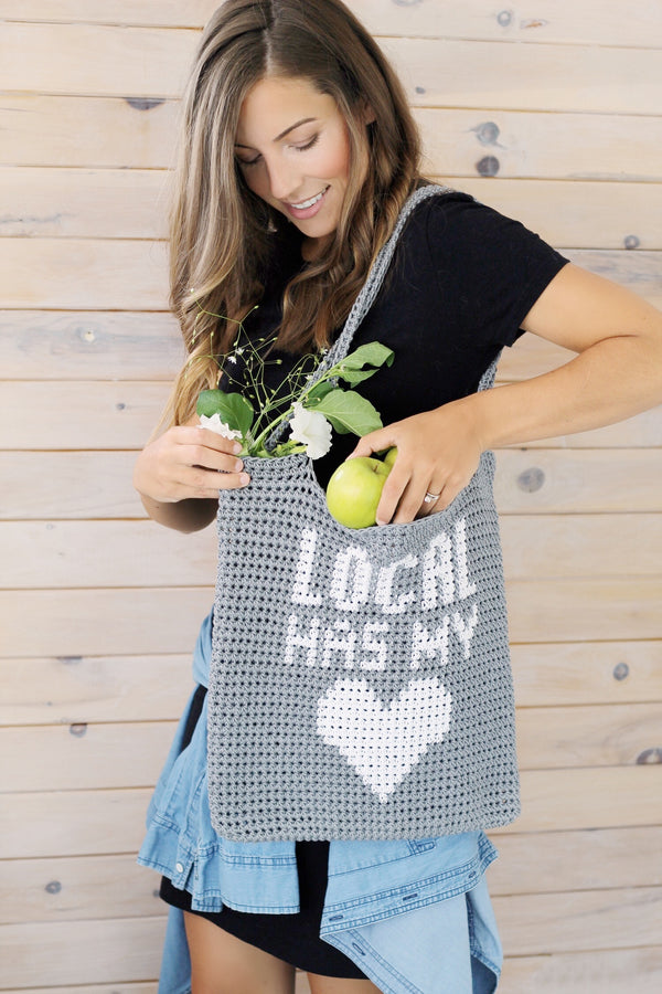 Crochet Kit - Local Has My Heart Bag
