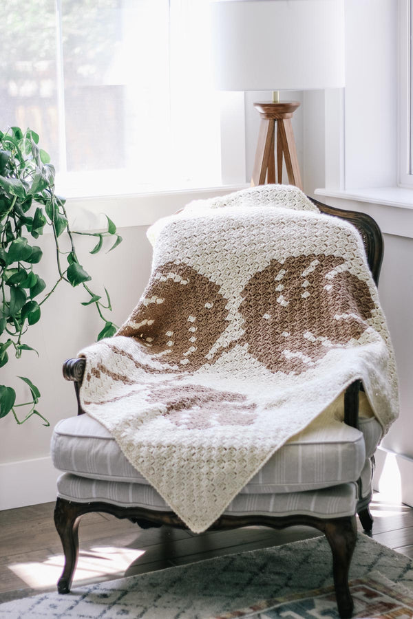 Crochet Kit - Monstera Leaf C2C Blanket