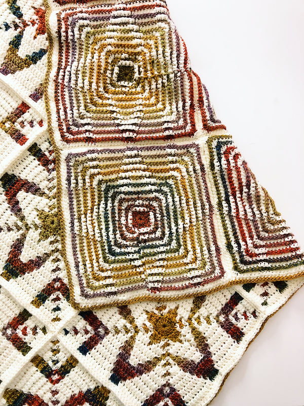Crochet Kit - Autumn Stars Afghan