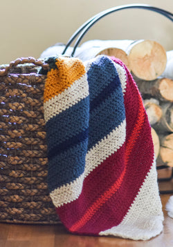Crochet Kit - Cabin Stripes Blanket