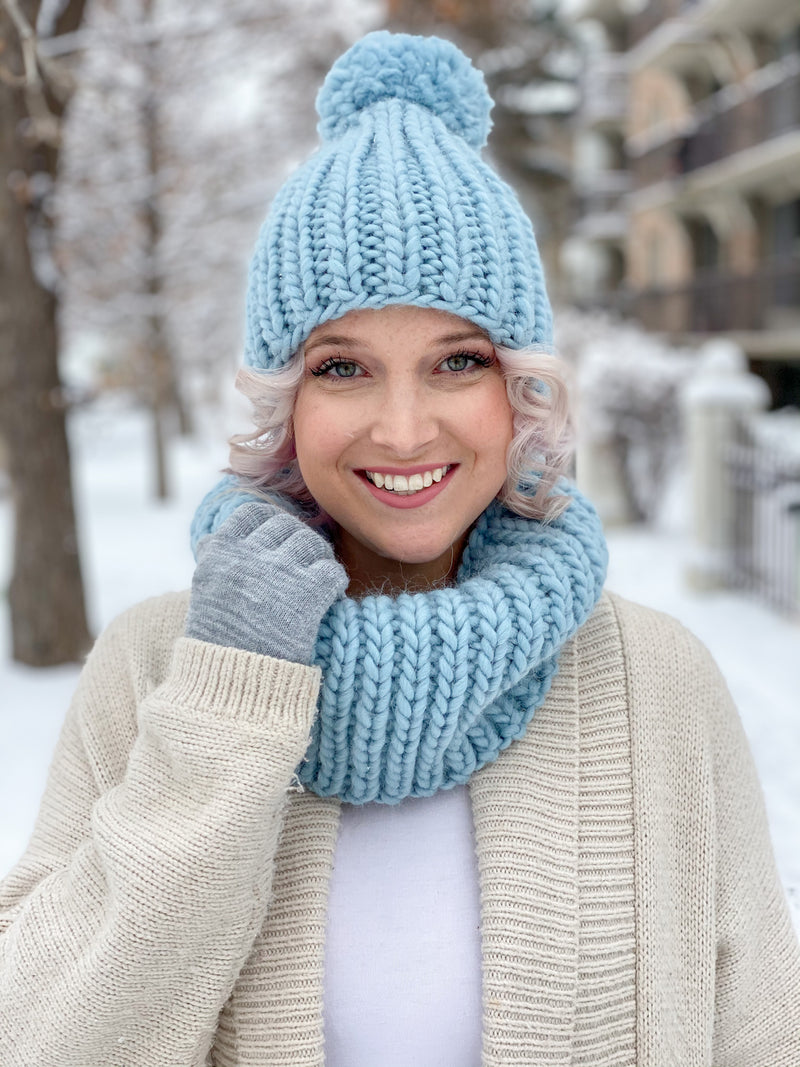 Knit Kit - Everyday Basic Beanie & Cowl