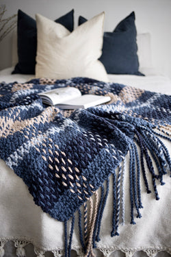 Crochet Kit - Wildwood Plaid Blanket