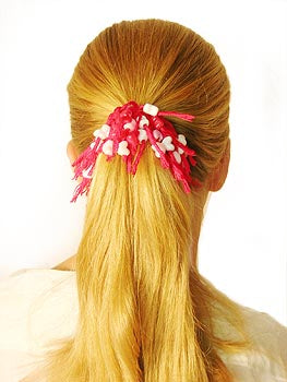 Beaded Scrunchy Hair Tie Pattern (Crafts)