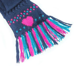 Duplicate Stitch Scarf Embellishment Pattern (Crafts)