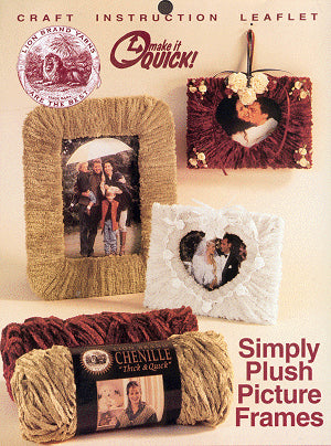 Simply Plush Picture Frames Pattern (Crafts)