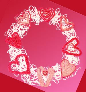 String Art Valentines Wreath Pattern (Crafts)