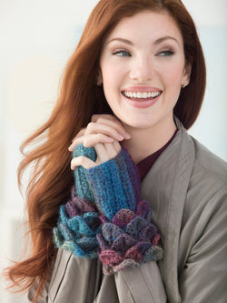 Crocodile Stitch Wrist Warmers (Crochet)