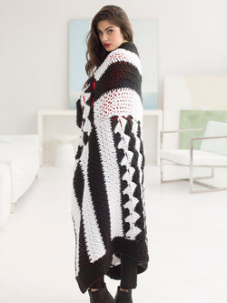 Graphic Black And White Afghan (Crochet)