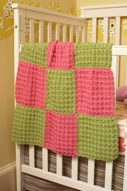 9 Patch Baby Throw Pattern (Crochet)