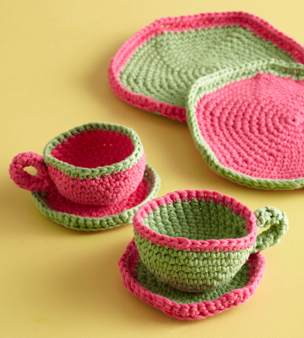 Afternoon Tea Cup and Saucer Pattern (Crochet)