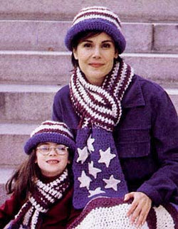 Americana Hat and Scarf Pattern (Crochet)