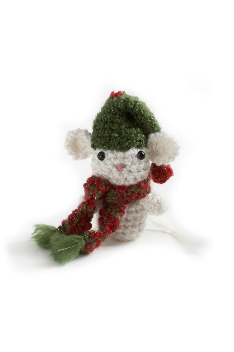 Amigurumi Christmas Mouse Ornament (Crochet)