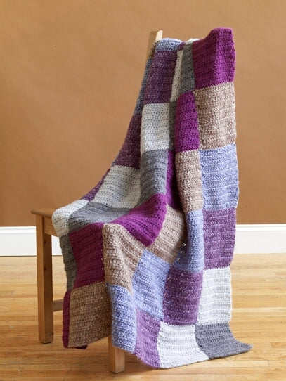 Bold Blocks Afghan Pattern (Crochet)