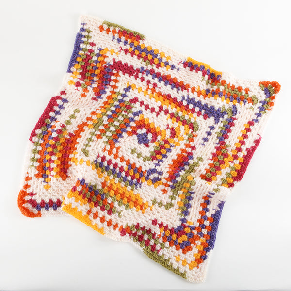Bright Granny Throw Pattern (Crochet)