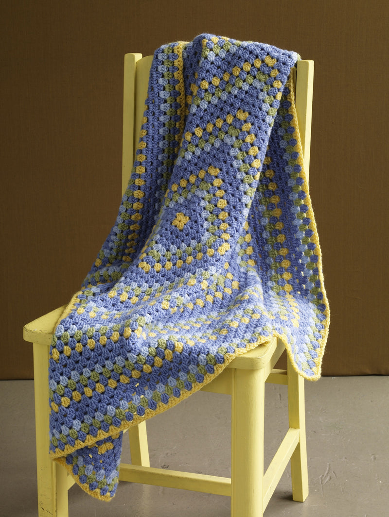Brilliant Colors Baby Throw Pattern (Crochet)