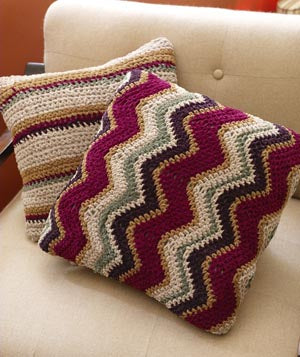 Contempo Striped Pillow Pattern (Crochet)