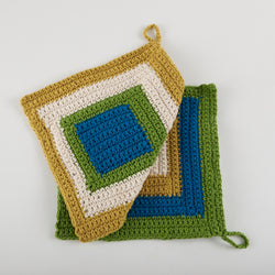 Cool Graphic Dishcloths (Crochet)