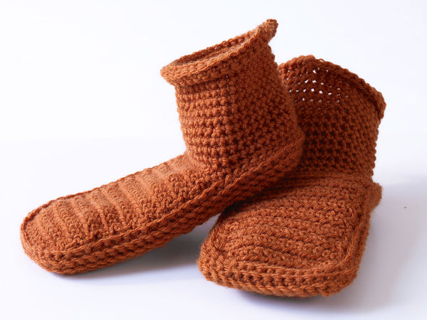 Crochet Adult Booties Pattern (Crochet)