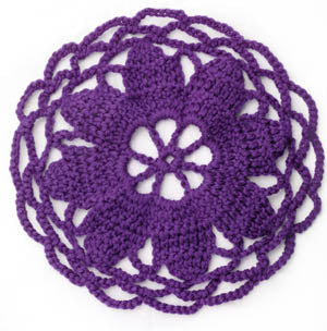 Crochet Motif VIII:  Flower-center circular motif (Crochet)