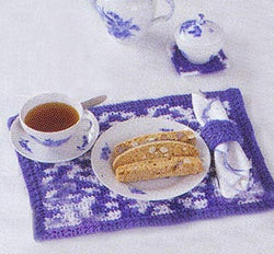Crochet Placemat Coaster Napkin Ring Set Pattern (Crochet)