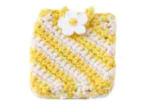 Crochet Sunshine Stripes Cellphone Holder Pattern