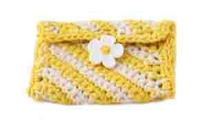 Crochet Sunshine Stripes Change Purse Pattern