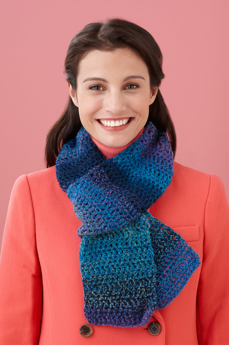 Double-Crochet One-Ball Scarf