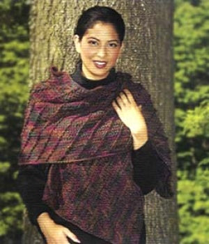 1 2 3 Easy Diagonal Shawl Scarf Pattern (Crochet)