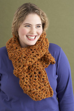 Easy Tweed Ripple Scarf Pattern (Crochet)