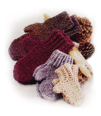 Family of Mittens Pattern (Crochet)