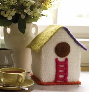 Felted Bird Cottage (Crochet)