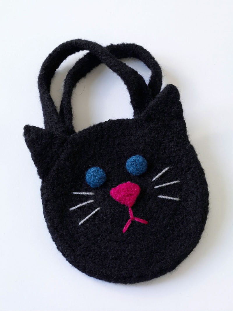 Felted Black Cat Bag Pattern (Crochet)