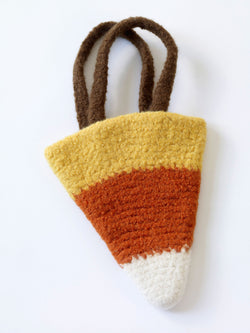 Felted Candy Corn Bag Pattern (Crochet)