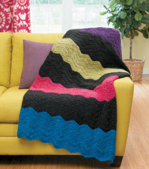 Graphic Ripple Afghan (Crochet)