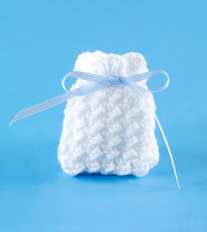 Grit Stitch Wedding Favor Sachet Pattern (Crochet)