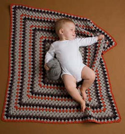 Happy Baby Blanket Pattern (Crochet)