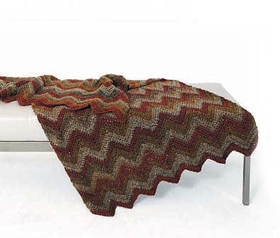 Homespun Ripple Throw Pattern (Crochet)