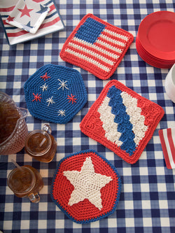 Independence Day Table Mats Pattern (Crochet)