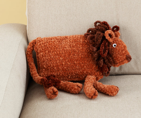 King Of The Jungle Pillow (Crochet)