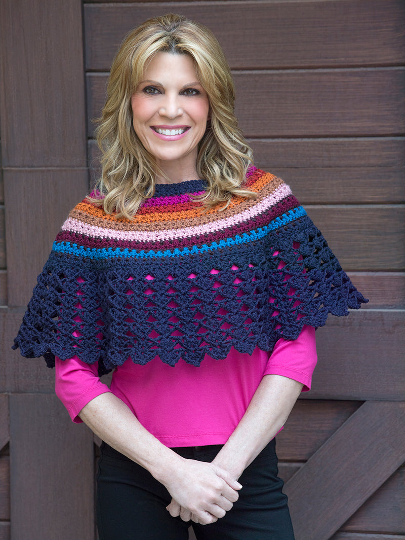 Lace Edged Poncho Pattern (Crochet)