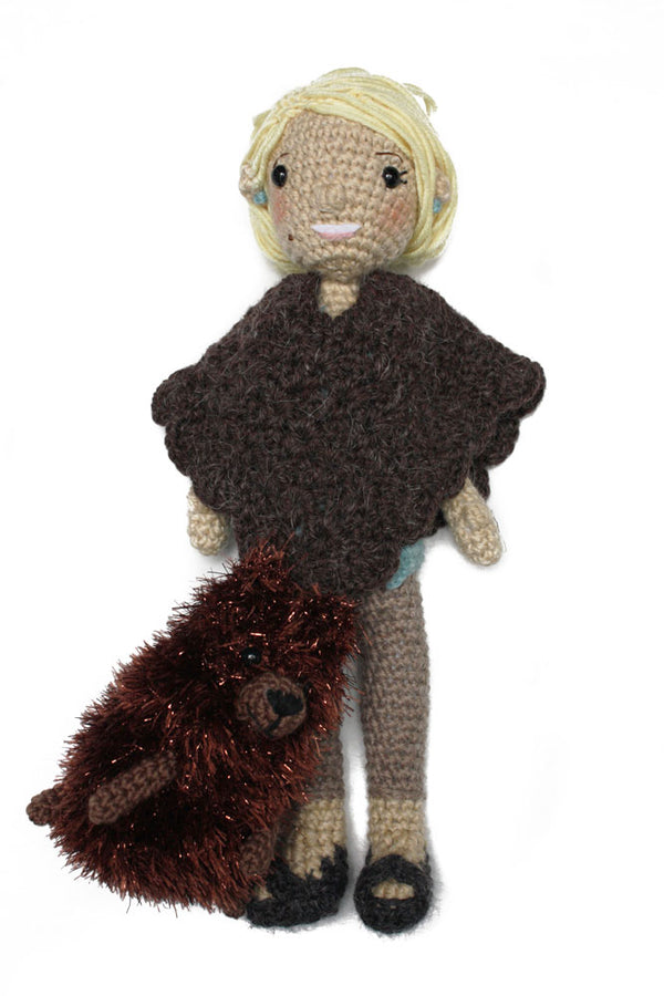 Martha Stewart Doll with Poncho and Dog (Crochet)