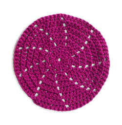 Ocean Grove Round Washcloth (Crochet)