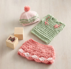Olivia Doll Outfit Skirt Top and Hat Pattern (Crochet)
