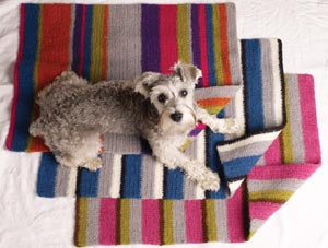 Pampered Paws Felted Pet Mat Earthtone Colorway Pattern (Crochet)